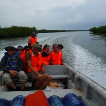Calm mangrove passage to Porvenir