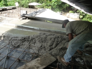 levelling the concrete